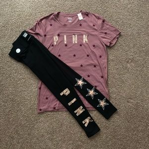 NWT VS PINK BLING STARS OUTFIT